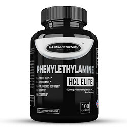 Phenylethylamine Hcl Natural Mood Booster Energy Aid And Fat Loss Support 100ct