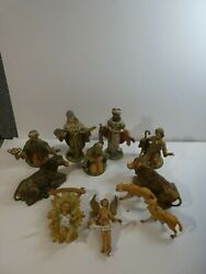 Vintage 11 Pieces Fontanini Depose Nativity Set 7.5 Made In Italy