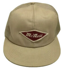 Vtg Mcness Feeds Patch Trucker Hat K Brand Made In The Usa Cap Agriculture Farm