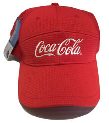 Coca Cola Hat Soda Pop Beverages Drinks Baseball Cap K Products Red White Nwt