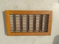 Vintage Metal Floor Furnace Register Vent Grate Cover For Opening About 6x12 In.