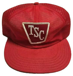 Vtg Tractor Supply Company Trucker Hat Made In The Usa Patch Cap Agriculture Tsc