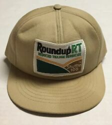 Vtg Roundup Trucker Hat Swingster Made In The Usa Patch Cap Agriculture Farming