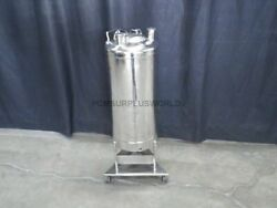 20l Mobile Tank Stainless Steel Exterior Special Interior Coating On Wheels