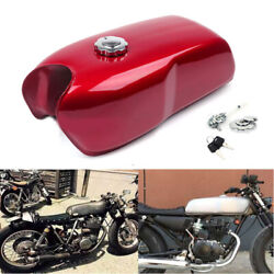 9l / 2.4gal Vintage Motorcycle Bikes Cafe Racer Seat Fuel Gas Tank And Cap Switch
