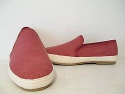 Gbx Mens Dart Casual Slip On Canvas Loafer Red Sizes 7/ 7.5 Mens = 8.5/ 9 Womens