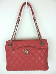 Authentic Small On The Go Tote Day Shopper Bag Pink Lambskin Leather Shw