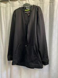 The Foundry Supply Co. Black Polyester Zip Up Long Sleeved Hoodie Pre Owned