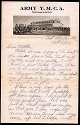 1916 Army Ymca - Fort Sheridan Il - Letter Head History Rare