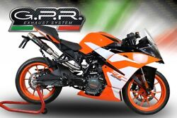 Ktm Rc 125 2017-20 E4 Gpr Deeptone Carbon Hom Slip-on Exhaust And Race Link Pipe