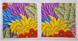 Wonderful And Whimsical Floral Botanical Fabric Remnants Quilting Crafts