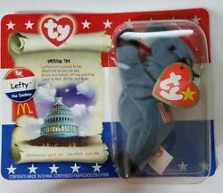 Ty Beanie Baby Mcdonald's Lefty The Donkey Original Packaging 1996 W/ Tag Errors