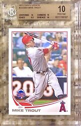 2013 Pop 2 Mike Trout Hof Topps Update Us300a Bgs 10 Pristine