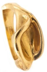 And Co. 1980 By Elsa Peretti 18 Kt Gold Sculptural Calla Lily Ring Rare