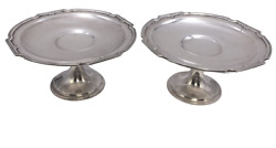 Pair Of Gorham Sterling Silver Compotes / Footed Dishes From 1927 In King Albert