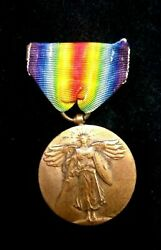 Rare Original Ww1 American Forces Victory Medal-the Great War For Civilisation
