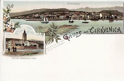 Croatia - Cirkvenica-very Rare Old Lithograph Post Card From About 1890-1905x