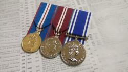 British Police Long Service Medals -full Size Mounted Replica Set Ready To Wear
