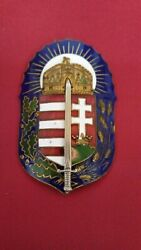 Hungary Kingdom Wwi Order Of Vitez With Silver Sword Very Rare Hallmarked