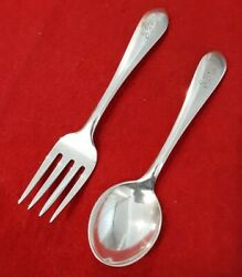 S. Kirk And Son Sterling Betsy Patterson Plain Baby Fork And Spoon Set - Monogram