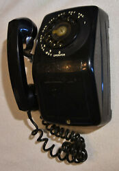 Rotary Wall Phone Telephone 1965 Black Automatic Electric Ae Nb902 Theater Prop