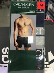 Men#x27;s CALVIN KLEIN 3 pack Classics Cotton Stretch Boxer Briefs sz M NWT $22.00