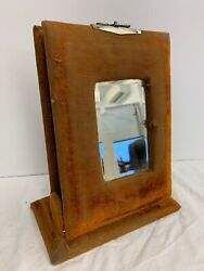 Antique Victorian Mirrored Family Photo Album With Pictures Silver Clasp 12.25''