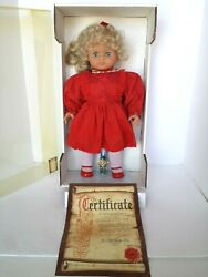 New In Box Sheila Made In Germany 1993 Lissi Vinyl Doll Company 20 Standing