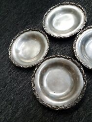 Elegant Sanborns Mexico Vintage Sterling Silver Small Plates Lot Of 4