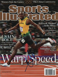 Usain Bolt Jamaican Track And Field Signed Sports Illustrated 8/13/12 No Label Coa