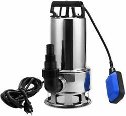 1.5hp 4356gph Portable Stainless Steel Sump Pump Submersible Clean Dirty Water H