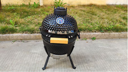 13 Inch Portable Household Ceramic Grill Outdoor Bbq Stuffed Smoker