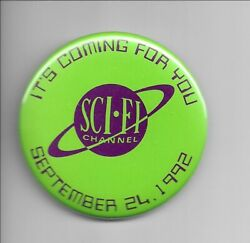 Original Sci-fi Channel Science Fiction Cable Tv Promo Advertising Pinback