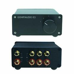 3 In 1 Out Rca Switch Cable Box Passive Stereo Signal Source Selector Audio S...