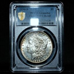 1896-s Morgan Silver Dollar ✪ Pcgs Unc Details ✪ 1 Uncirculated L@@k ◢trusted◣