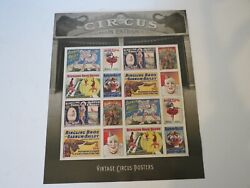 2 Sheets Of Stamps / Vintage Circus Posters And Battle Of Lake Erie