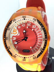 Swatch Swiss Made Scuba Diver Wr H20 200 Mm Ag 2005 Red Dial 46 Mm Silicon Band