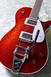 Gretsch G6129t Players Edition Jet Ft With Bigsby Red Sparkle