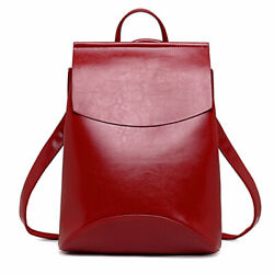 Women Backpack High Quality Youth Leather Backpacks Girls School Shoulder Bag $27.44