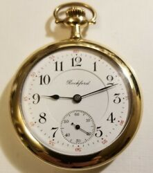 Rockford Rare 12s. 21 Jewel Double Sunk Dial Grade 375 Only Made 2,000 1910