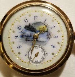 Plymouth Rare 0s. 17j Adj. Super Fancy Dial 1904 14k. Multi-color G.f. Hunter