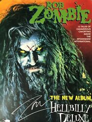 Rob Zombie Signed Hellbilly Deluxe Original Record Store Promo Poster Proof Rare