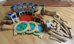Thomas And Friends Wooden Railway Lot Tidmouth Shed, Kranky, Sodor Scrub And Shine