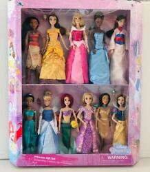 Disney Store 11 Disney Classic Princess 12 Doll Collection Gift Set-barbie Size