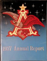 Anheuser Busch Brewing Incorporated St Louis Missouri Annual Report 1957
