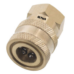 40 1/4 Fpt Female Brass Socket Quick Connect Coupler Pressure Washer Nozzle