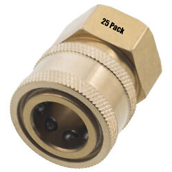 25 3/8 Fpt Female Brass Socket Quick Connect Coupler Pressure Washer Nozzle