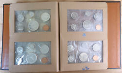 Cad 1962-1968 Silver Proof Sets In Album 327d-9