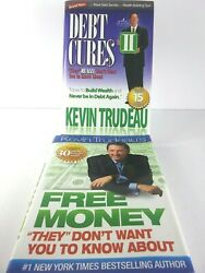 Kevin Trudeau's Lot Of 2 Hardback Books Debt Cures And Free Money