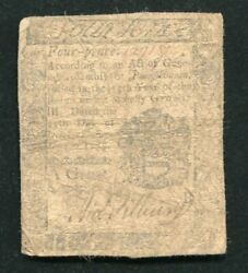 Pa-182 October 25 1775 4d Four Pence Pennsylvania Colonial Currency Noteandnbsp